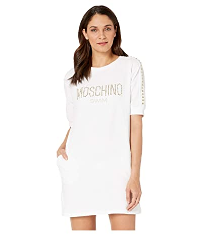 Moschino Cotton Dress Cover-Up (White) Women