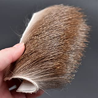 Phecda Sport 2 pcs Deer Body Long Thick Fur Size:8cmx8cm Elk Body Hair for Dry Flies Fly Tying Materials