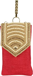 Suman Enterprises Pearl Clutch Silk Saree Clutch Mobile Pouch Waist Clip Ladies Purse Women & Girls