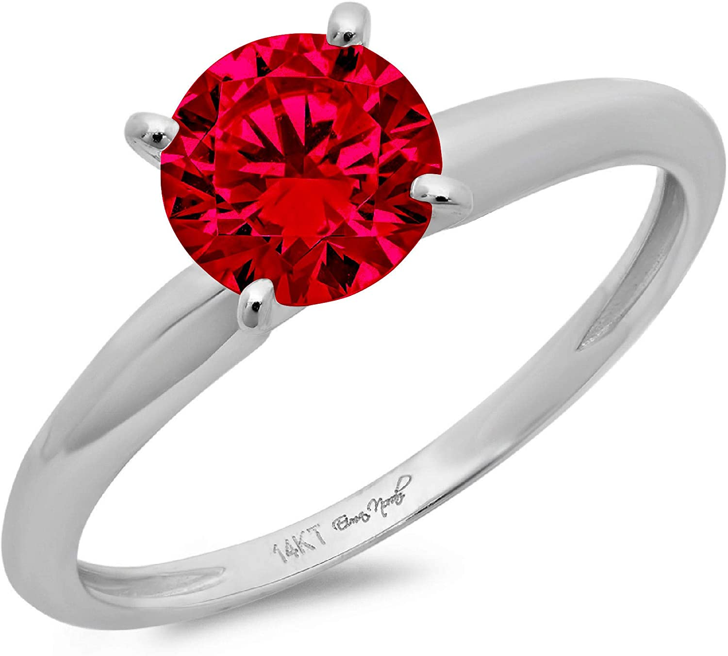 2.95 ct Brilliant Round Shape Solitaire Flawless Pink Tourmaline Ideal VVS1 4-Prong Engagement Wedding Bridal Promise Anniversary Designer Ring in Solid 18k White Gold for Women