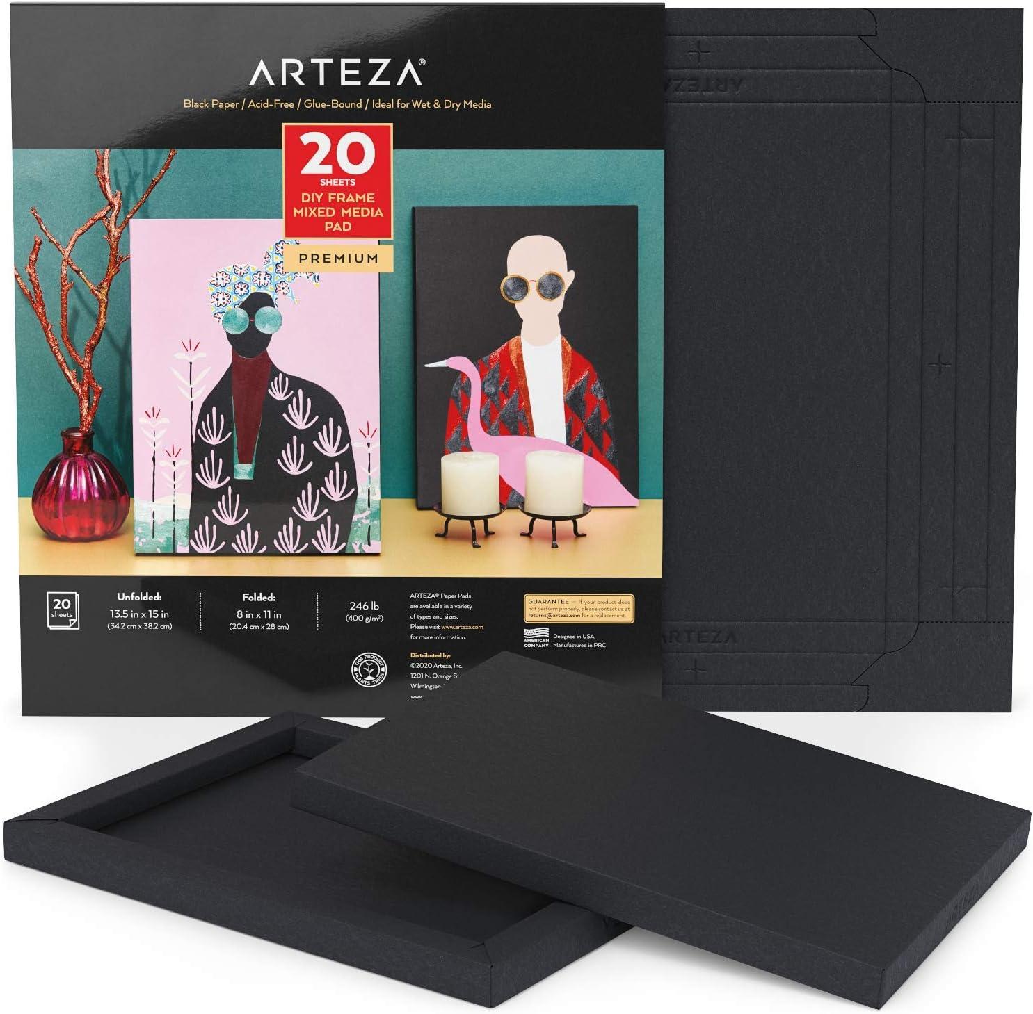 Arteza Mixed Media Paper Finally popular brand Foldable Canvas Inches 11 8 Pad x 20 Minneapolis Mall