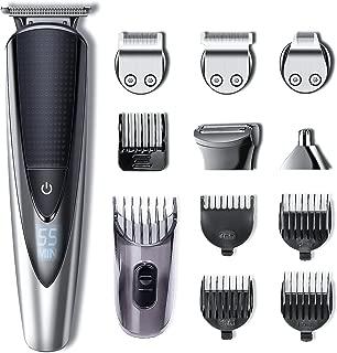 Hatteker Barbero Electrico Recortador de Barba y Precisión Afeitadora Corporal para Hombres Profesional Cortapelos Narizy Orejas Máquina de Afeitar Impermeable Inalámbrica Recargable con USB