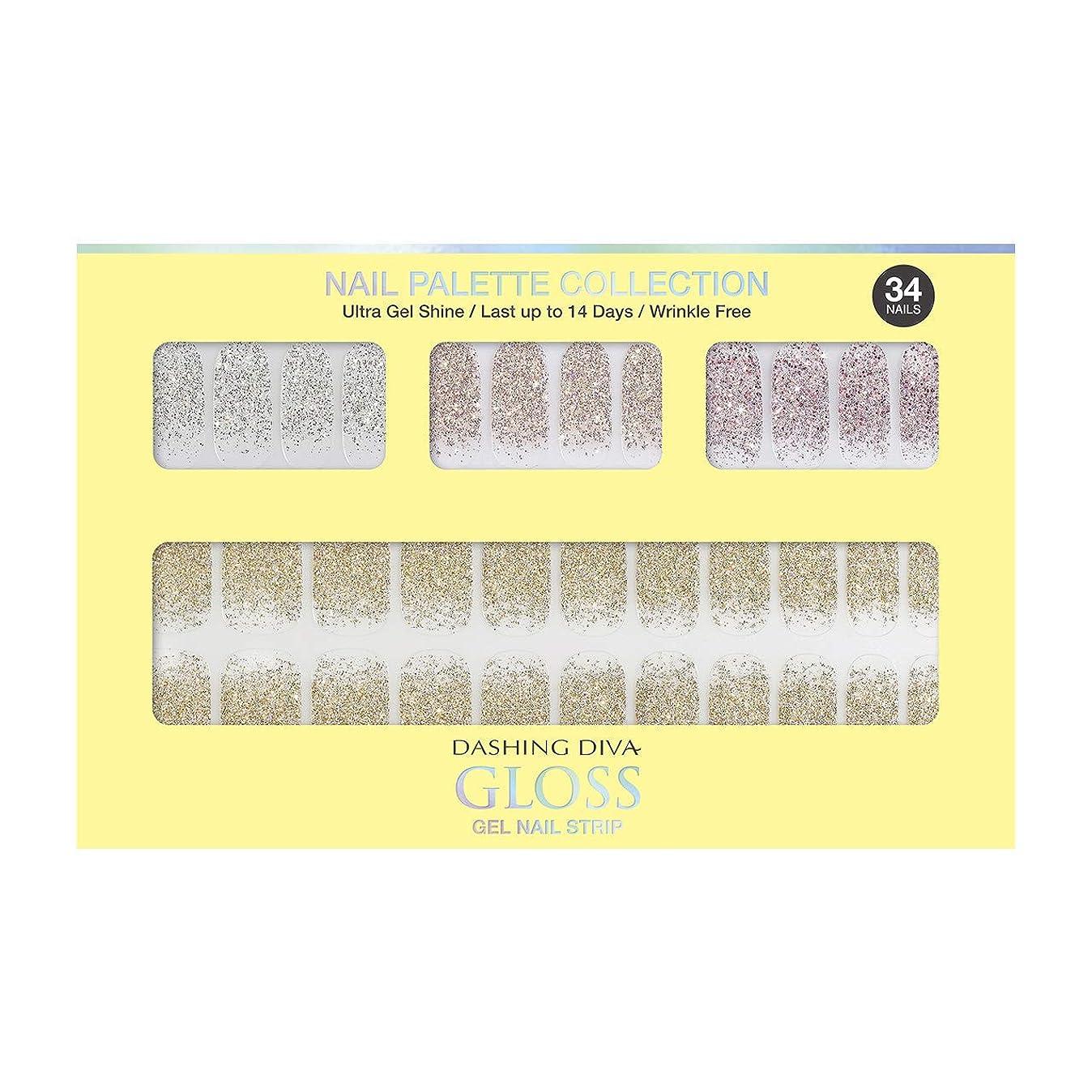 費用証明書議題ダッシングディバ グロスジェル ネイルストリップ DASHING DIVA Gloss Gel Nail Strip DGNP07-DURY+ オリジナルジェル ネイルシール Lemon #07 Sparkling Powder