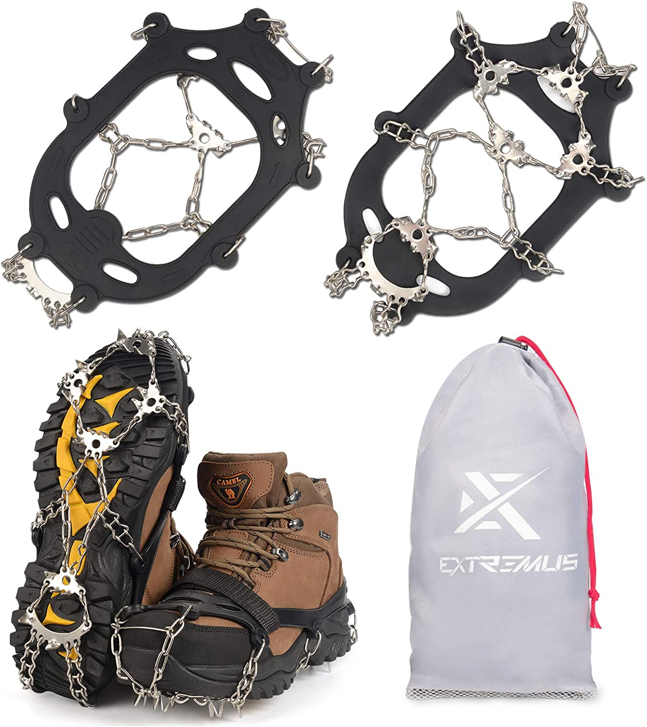 Extremus El Paso Mall 23-Spike Ice Cleats Crampons or trust Men for Abrasio Women