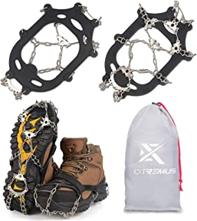 Extremus 23-Spike Ice Cleat Snow Safety Traction Cleats for Men or Women, Abrasion Resistant 201 Stainless Steel, 23 Spike...