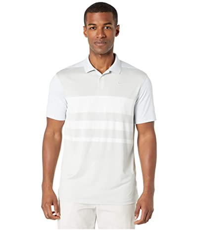 Nike Golf Dry Vapor Polo Stripe (Pure Platinum/White/Pure Platinum) Men
