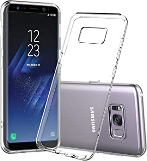 Shamo's for Galaxy S8 Plus Case, [Crystal Clear] Samsung Galaxy S8+ Case [Shock Absorption] Cover TPU Rubber Gel [Anti Scr...