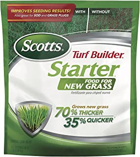 Scotts Turf Builder Starter Food for New Grass, 3 lb. - Lawn Fertilizer for Newly Planted Grass, Also Great for Sod and Gr...