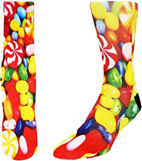 Unisex 3D Print Novelty Funny Crazy Colorful Athletic Sport Crew Tube Gift Socks