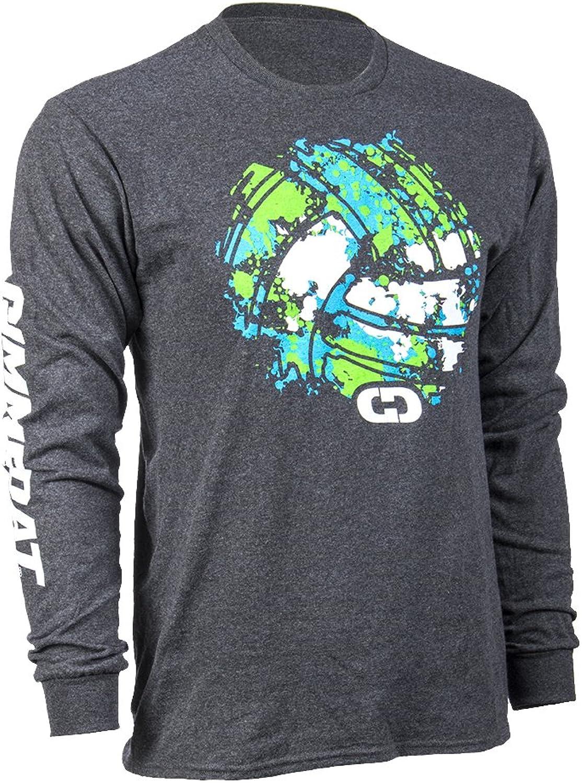 GIMMEDAT Splatter Volleyball Long Sleeve Shirt   Volleyball Player Gift Charcoal Grey
