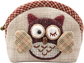 Owl Coin Purse Easy Sewing Project Sewing Kit For Girls Beginners (Red)