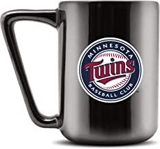 مج قهوة سيراميك مطبوع عليه Duck House MLB MINNESOTA TWINS - أسود معدني، 473 جم