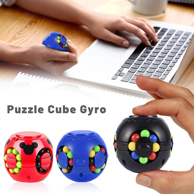 Zappeln Spinner Speed Cube Lindert Stress Und Angst Toy Brain Teasers Magic Puzzle Kreisel W/ürfel Stressabbau Fingerspielzeug F/ür Kinder Erwachsene