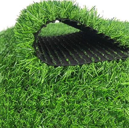 Gazon artificiel utilis/ée pour le verdissement du paysage jardin ext/érieur tapis de tapis de paille artificiel en plein air fausse herbe verte pelouse de jardin naturelle et r/éaliste /à haute densit/é