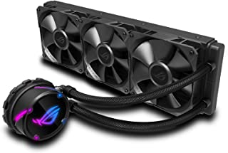 ASUS 90RC0070-M0UAY0 ROG Strix LC 360 all-in-one liquid CPU cooler with Aura Sync RGB, and triple ROG 120mm radiator fans