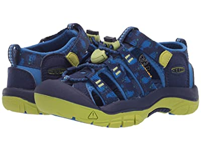 KEEN Kids Newport H2 (Toddler/Little Kid) (Blue Depths/Chartreuse) Boys Shoes