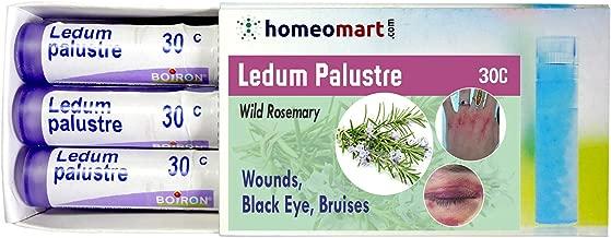 Homeopathy Ledum Palustre 30C Pills for Wounds, Black Eye, Bruises. Pack of 3, Sealed Boiron 4g Tubes