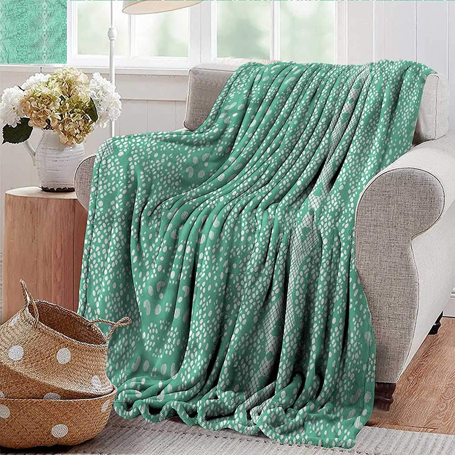 Xaviera Doherty Weighted Blanket for Kids Mint,Retro Lace Pattern Soft Summer Cooling Lightweight Bed Blanket 50 x60