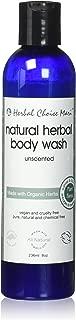 Herbal Choice Mari Organic Herbal Body Wash, Unscented; 8floz