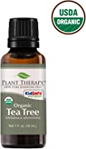 Plant Therapy Tea Tree Organic Essential Oil 100% Pure, USDA Certified Organic, Undiluted, Natural Aromatherapy, Therapeutic Grade 30 mL (1 oz)
