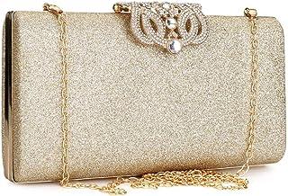 Bolso de mano con cristales de estrás y cierre de mariposa para mujer, bolsa de noche para fiesta formal, dama de honor, boda