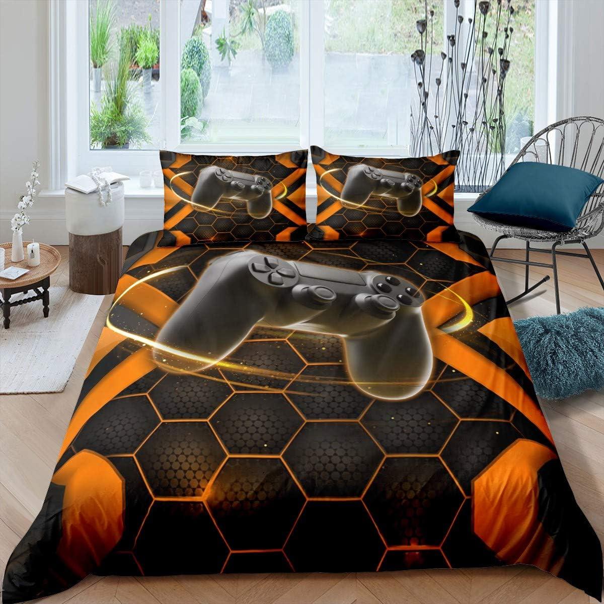 Regular dealer Gaming Bedding Set Twin Max 50% OFF Size for Games Kids Teens Video Boys Com