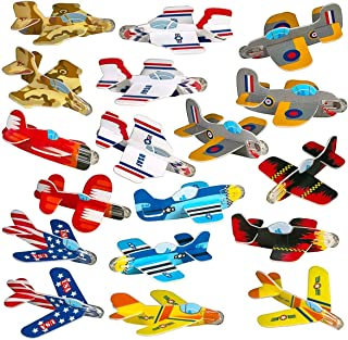 Party Favors for Kids - Bulk Toys - 72 Pack of Airplane Gliders Bulk Party Pack Individually Wrapped Flying Paper Planes – Assorted Designs - for Rewards and Prizes, Pinata Fillers, Carnival Prizes