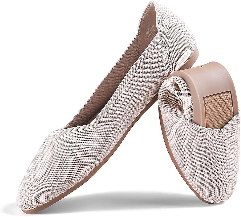 Mhuire Women's Knit Bargain sale Ballet Flat Round Lightweight Foldable Toe Genuine Free Shipping S