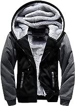 GEEK LIGHTING Men's Zip Up Fleece Hoodie Winter Heavyweight Sherpa Lined Warm Jacket