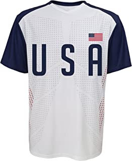 Outerstuff International Soccer U.S.A. Jersey Top, Medium, White