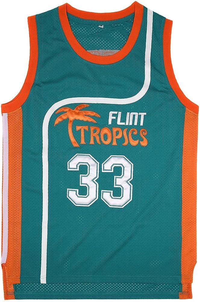 2021 autumn and winter new All items free shipping Wansi Mens Moon #33 Flint Tropics S-XXXL Jersey Basketball Movie