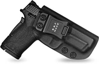 B.B.F Make IWB KYDEX Holster Fit: Smith & Wesson M&P 380 Shield EZ | Retired Navy Owned Company | Inside Waistband | Adjustable Cant | US KYDEX Made