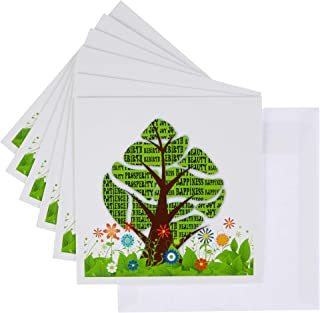 3dRose Greeting Cards, 6 x 6 Inches, Pack of 6, Persian New Year Tree (gc_101835_1)