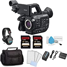 Sony PXW-FS5 XDCAM Super 35 Camera System Body Only Bundle Kit with 2X 64GB Memory Card + Carrying Case + Sony MDR Headphones and More