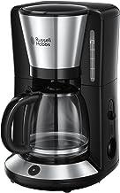Russell Hobbs Adventure Brushed Koffiezetapparaat (incl. Glazen Kan), RVS/Zwart, 10 Koppen (1,25 L), 24010-56