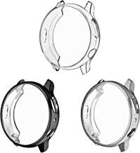 3 Pack - Fintie Case Compatible with Galaxy Watch Active 2 40mm, Soft TPU Screen Protector All-Around Bumper Shell Cover C...