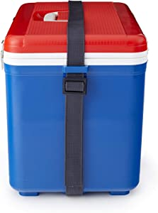 Engel 19 Quart 32 Can Airtight Odor Resistant Insulated Cooler Drybox, Red/Blue