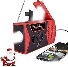 [2021 Premium Version] Emergency-Solar-Hand-Crank-Radio,Puiuisoul Portable NOAA Weather Radios with AM/FM, Alarm,Reading L...