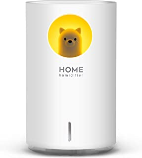 700mL Humidifiers for Bedroom Home Office,SIXKIWI Cute Bear Cool Mist Humidifier USB Ultrasonic,2 Mist Mode Timer 18hrs Au...