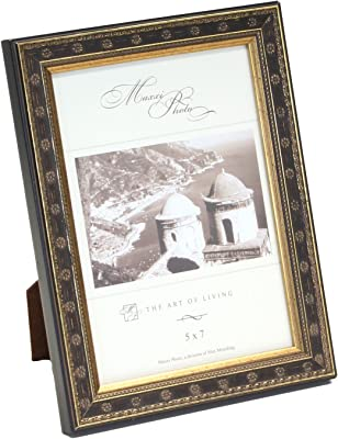 Wood Antique Gold Leaf San Marco G3662-80 Maxxi Designs Photo Frame with Easel Back 8 x 10