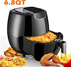Air Fryer XL 6.8QT, 1800W Electric Hot Air Fryers Oven Oilless Cooker, LCD Digital Touchscreen, 8 Cooking Presets, Preheat & Nonstick Basket for Fast Healthier Fried Food