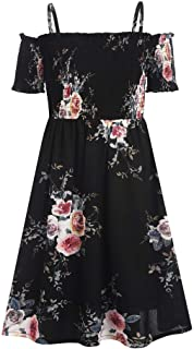 Arshiner Girls Casual Summer Floral Sleeveless Dress for 4-13 Years