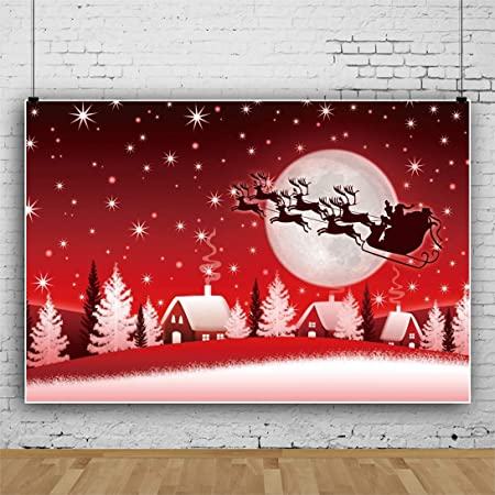 DORCEV Polyester 6x5ft Christmas Eve Backdrop Merry Christmas Party Background Snow Winter Outdoor Snowfir Wooden House Lamp Happy New Year Party Banner Kids Adult Photo Studio Props