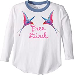 Chaser Kids - Long Sleeve Super Soft Free Bird Tee (Toddler/Little Kids)