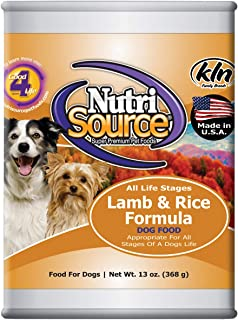 NutriSource Lamb Rice Canned Food