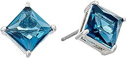 LAUREN Ralph Lauren - Estate Faceted Stone Stud Earrings