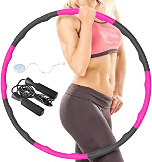 8 pcs fitness hula hoops perfect way for indoor exercise BETTCO Weighted Hula Hoops for adults Fun way for weight loss using Smart weighted Hula hoop 1 kg