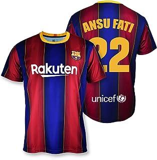 T-shirt replica FC Barcelona 1st EQ seizoen 2020-21 licentieproduct Dorsal 22 Ansu Fati 100% polyester maat