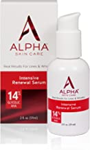 Alpha Skin Care Intensive Renewal Serum | Anti-Aging Formula | 14% Glycolic Alpha Hydroxy Acid (AHA) | Reduces the Appearance of Lines & Wrinkles | For All Skin Types | 2 Oz