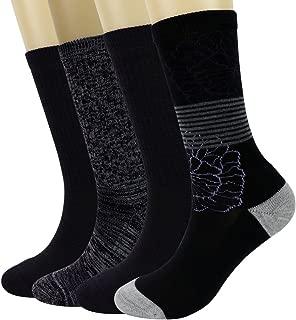 PlusAg 4P Pack Women's Merino Wool Micro Crew Cushion Socks